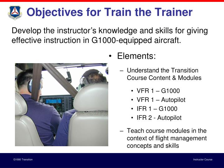 Objectives for Train the Trainer