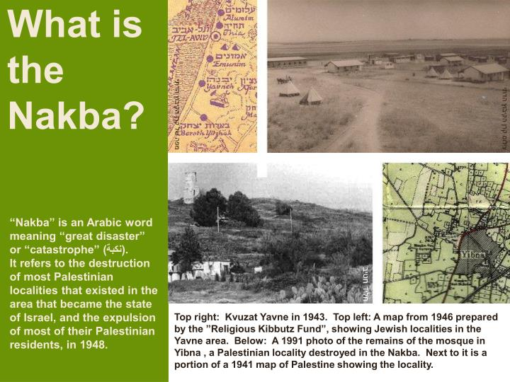 What is the Nakba?