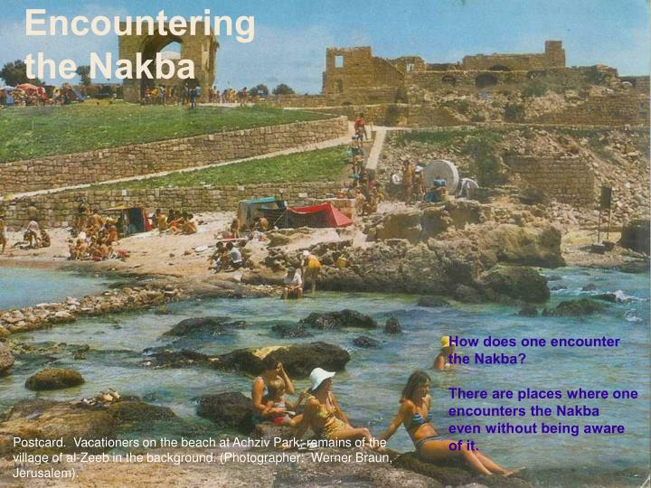 Encountering the Nakba