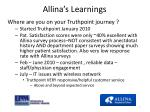 allina s learnings