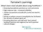 fairview s learnings1