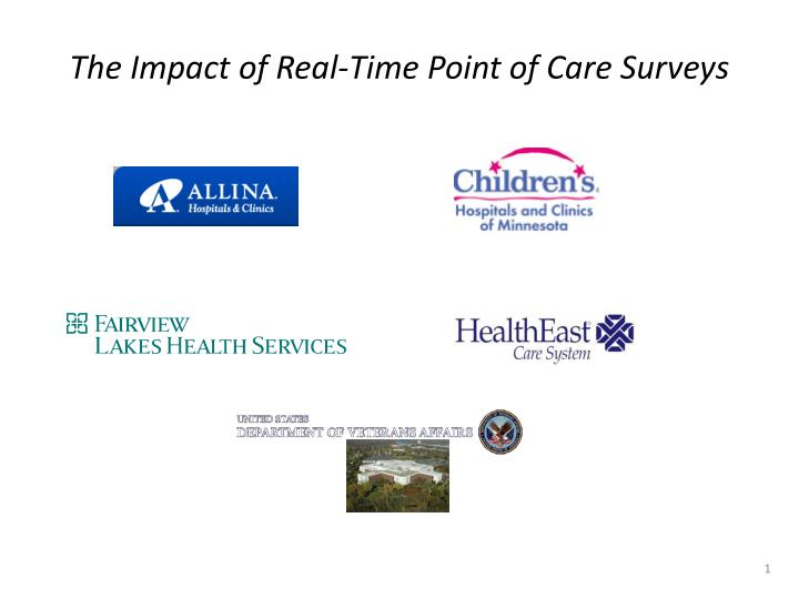 the impact of real time point of care surveys