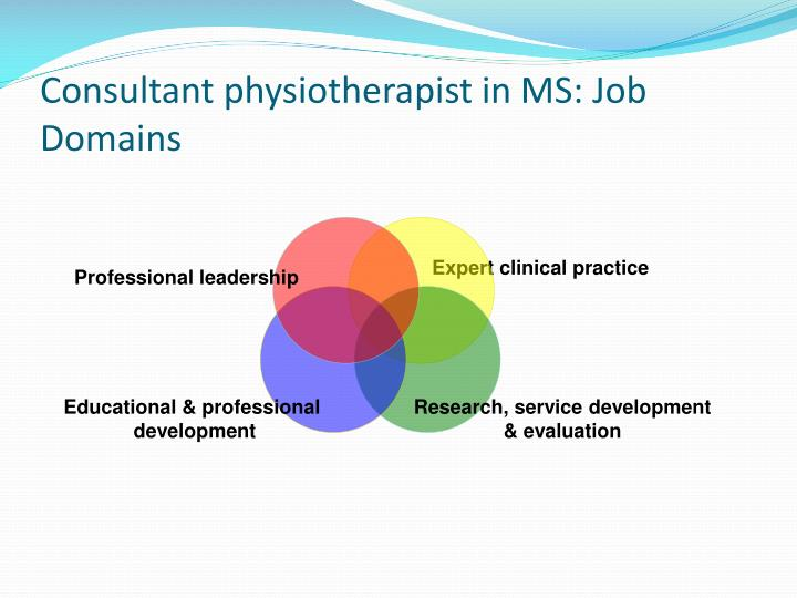 Consultant physiotherapist in MS: Job Domains