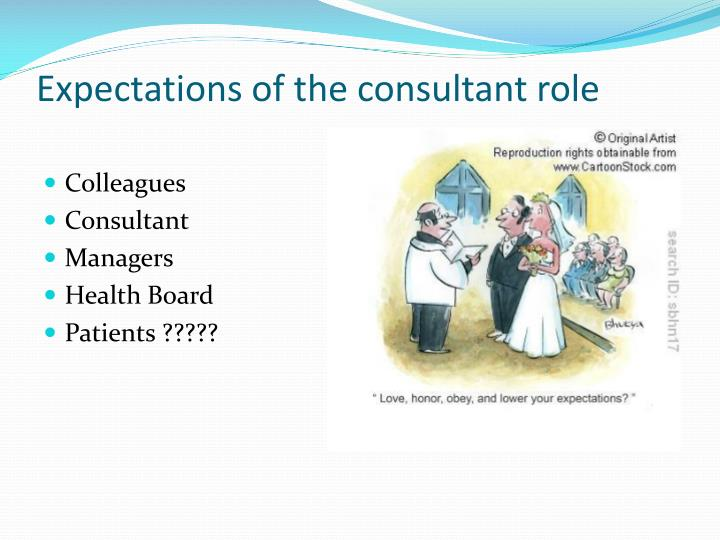 Expectations of the consultant role