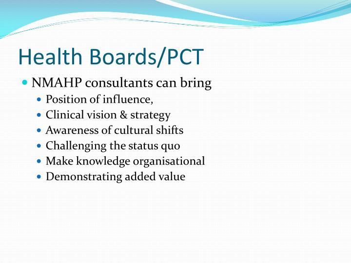 Health Boards/PCT
