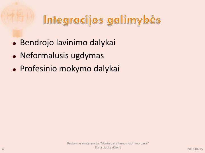 Integracijos galimybės