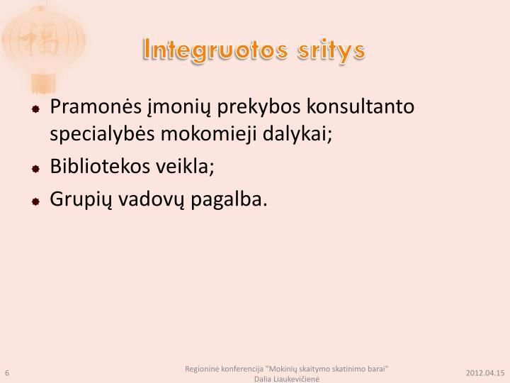 Integruotos sritys