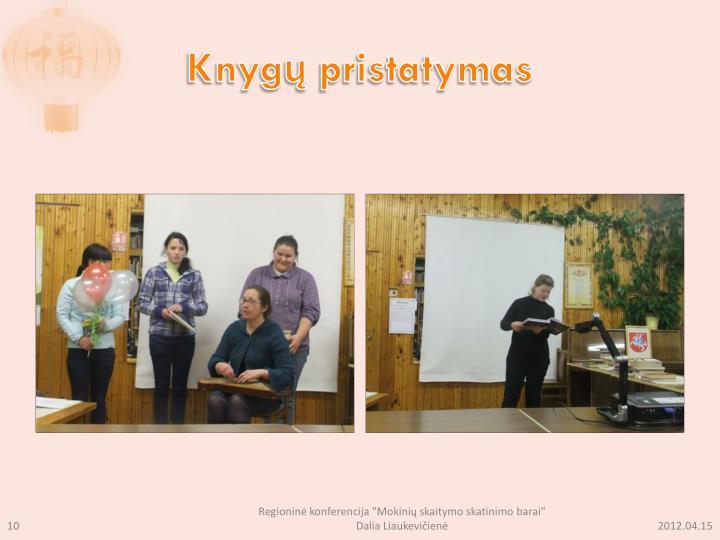 Knygų pristatymas