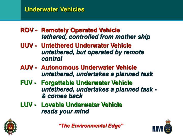 Underwater Vehicles
