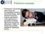 profesinis nuovargis