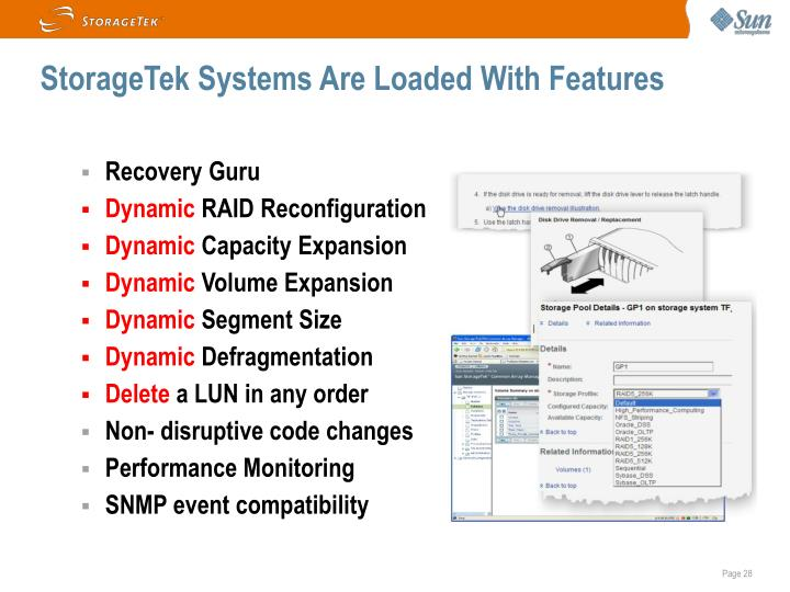 StorageTek Systems Are Loaded With Features