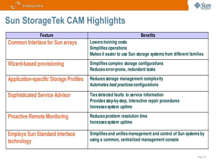Sun StorageTek CAM Highlights