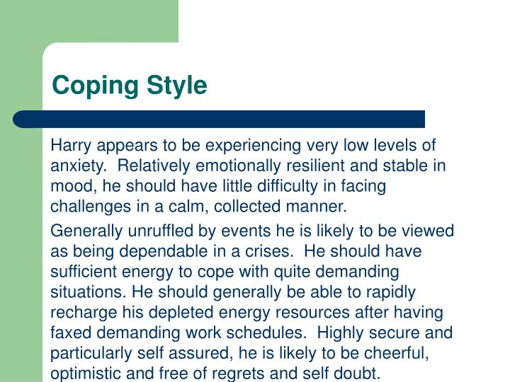 Coping Style