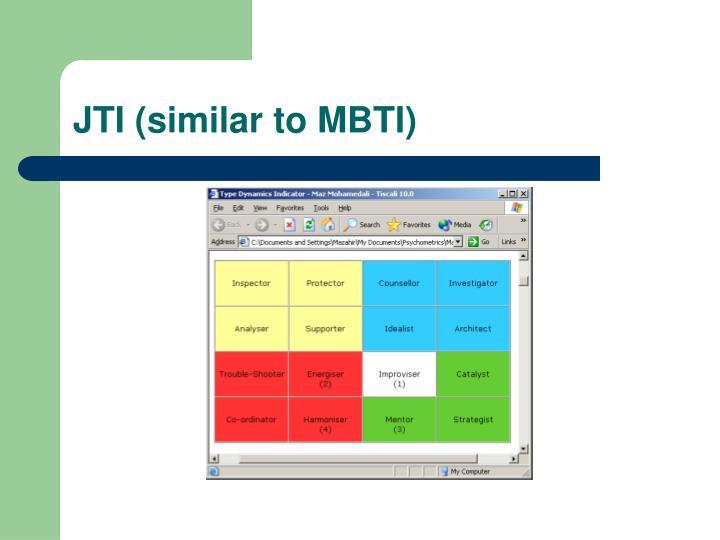 JTI (similar to MBTI)