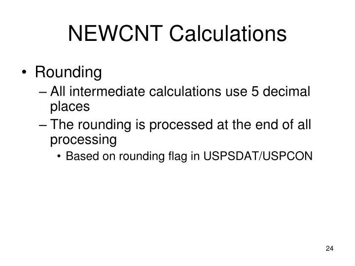 NEWCNT Calculations
