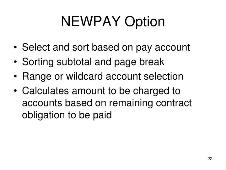 NEWPAY Option