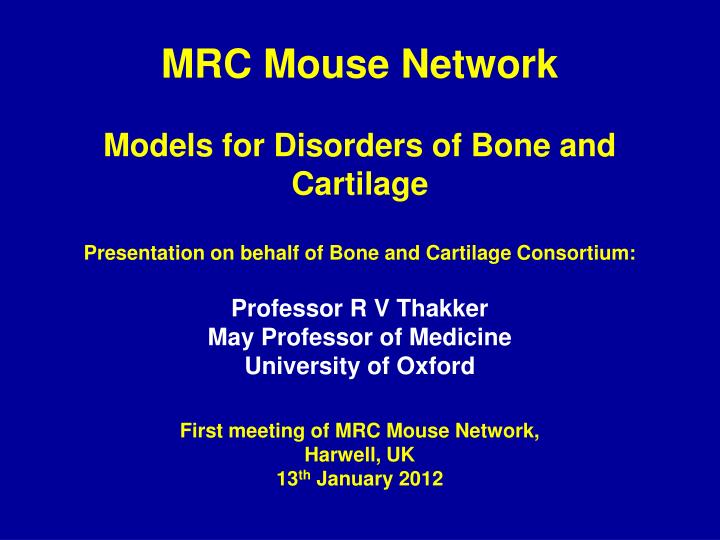 MRC Mouse Network