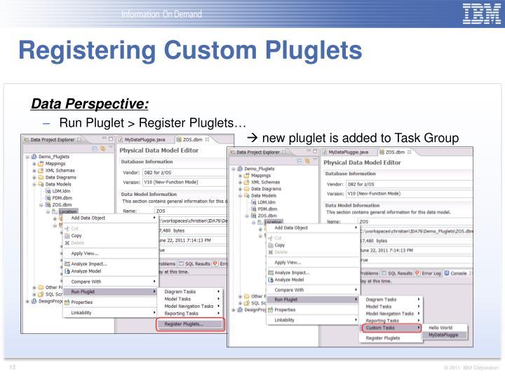 Registering Custom Pluglets