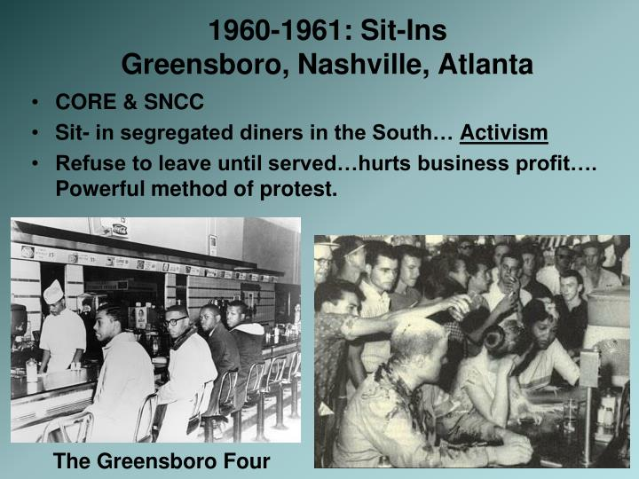 1960-1961: Sit-Ins