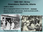 1960 1961 sit ins greensboro nashville atlanta