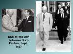 dde meets with arkansas gov faubus sept 1957
