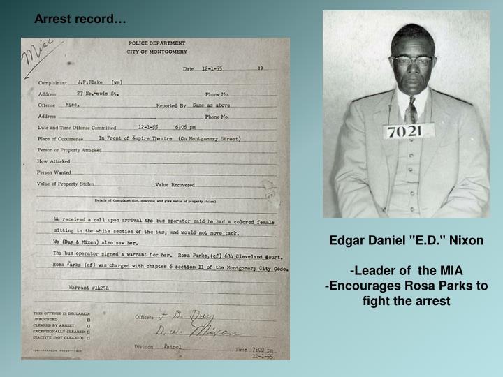 Arrest record…
