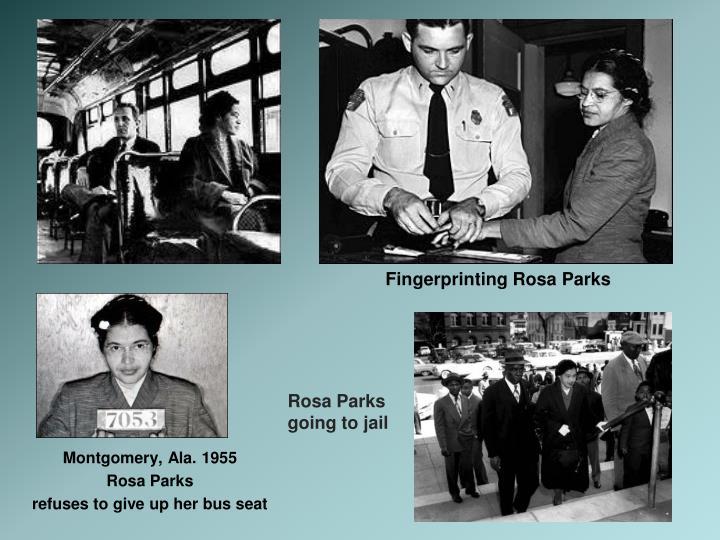 Fingerprinting Rosa Parks