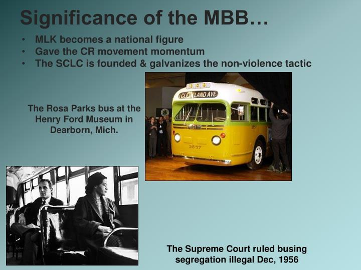 Significance of the MBB…