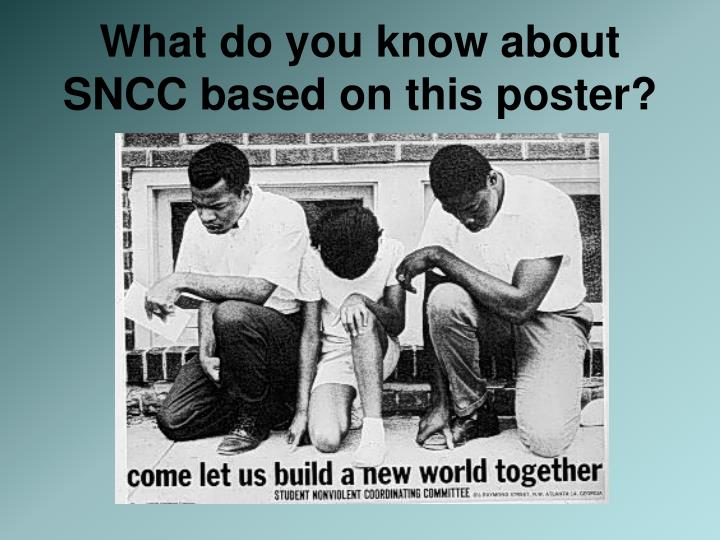 What do you know about SNCC based on this poster?