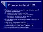 economic analysis in hta