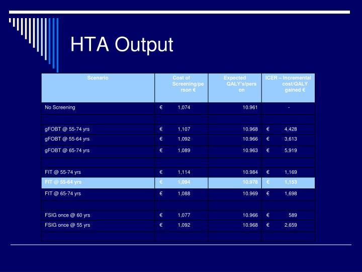 HTA Output