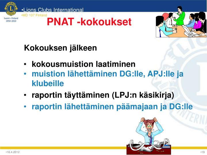 PNAT -kokoukset