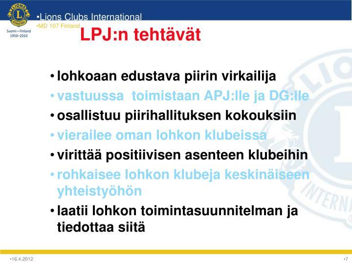 LPJ:n tehtävät