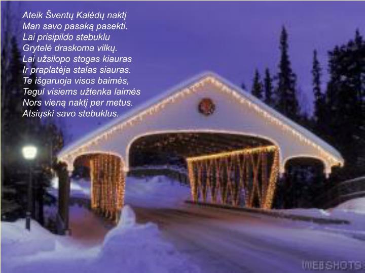 Ateik Šventų Kalėdų naktį