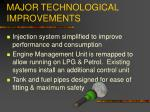 major technological improvements1