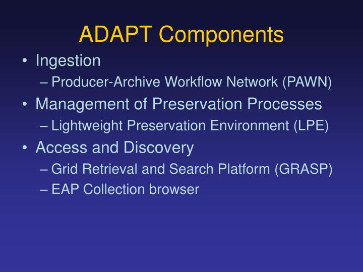 ADAPT Components