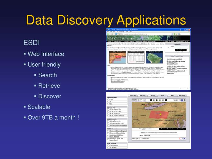 Data Discovery Applications