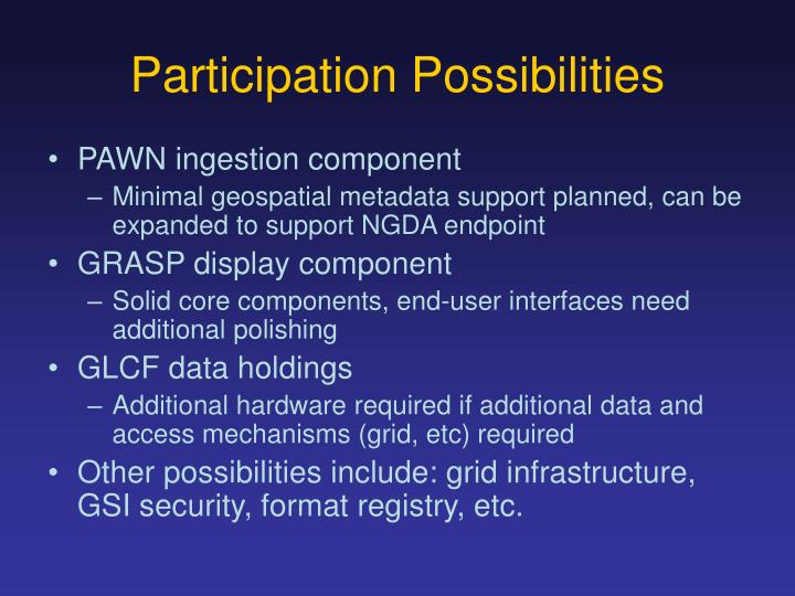 Participation Possibilities