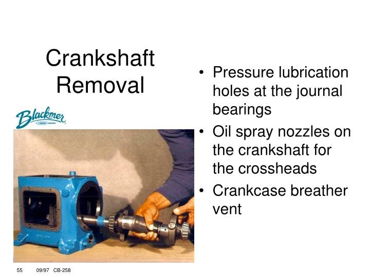 Pressure lubrication holes at the journal bearings