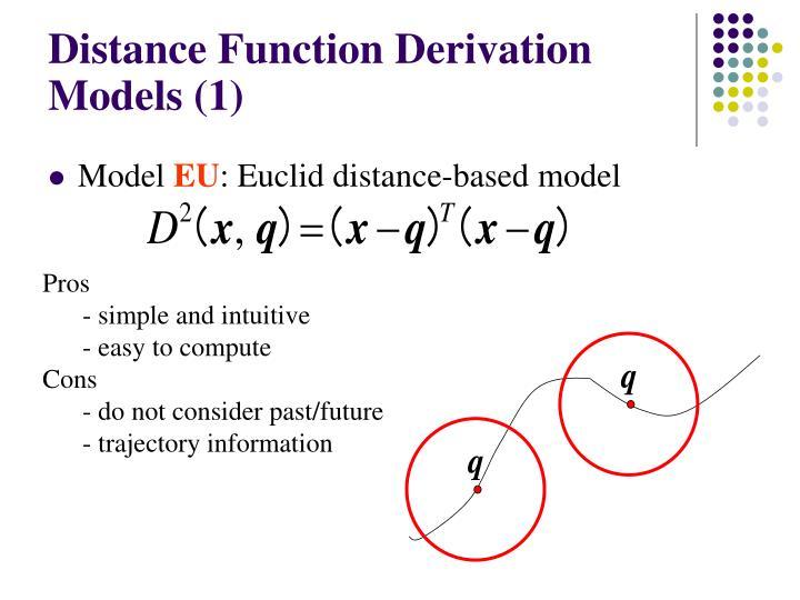 Distance Function Derivation Models (1)