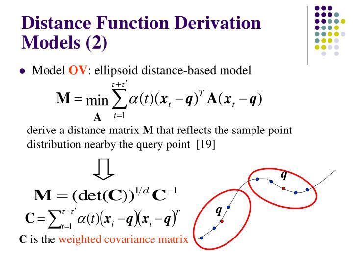 Distance Function Derivation