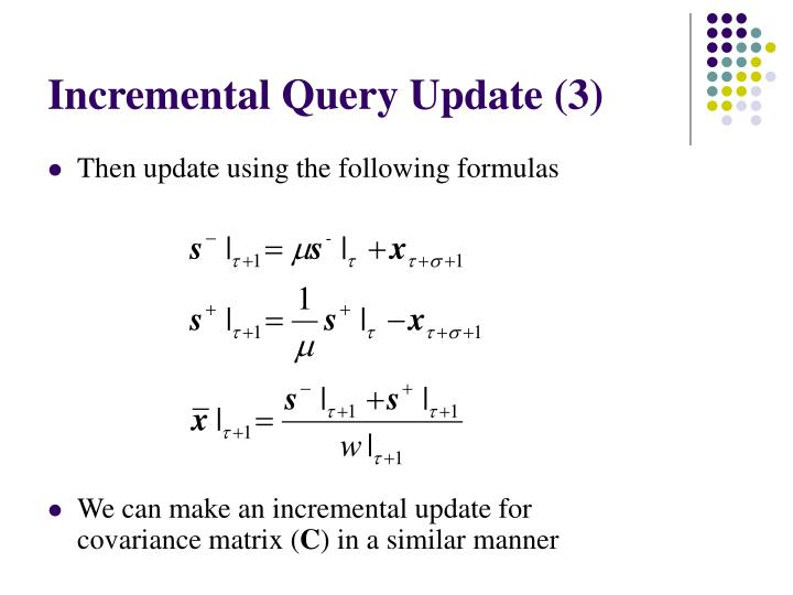 Incremental Query Update (3)