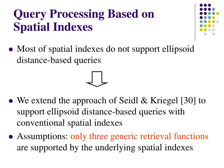 Query Processing Based on Spatial Indexes