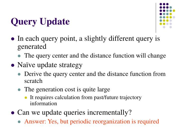 Query Update