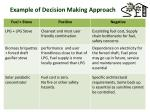 example of decision making approach1