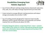 possibilities emerging from holistic approach