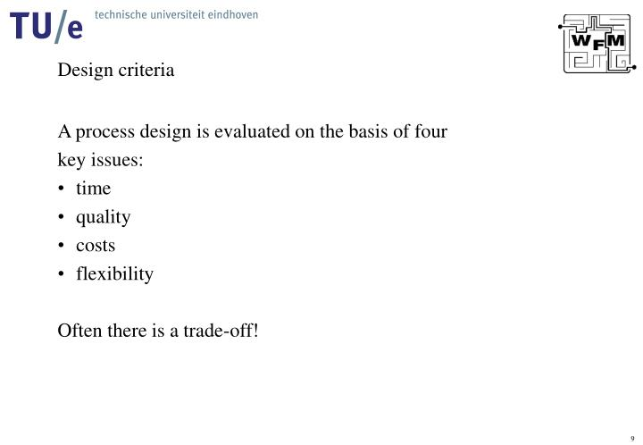 Design criteria