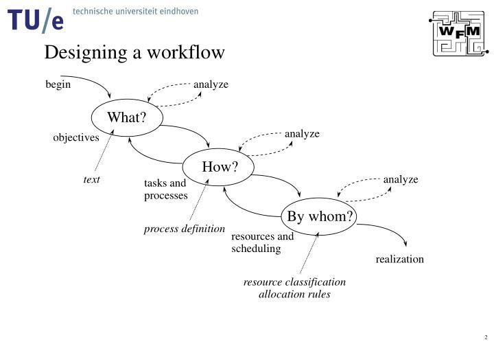 Designing a workflow