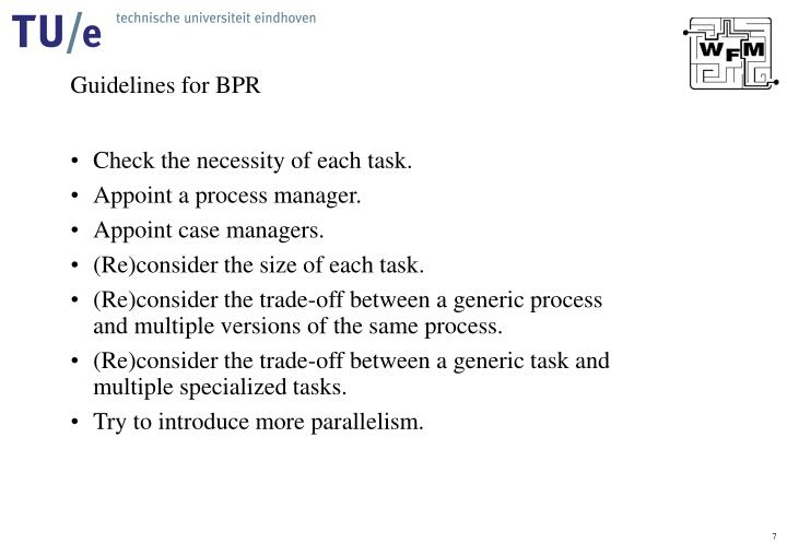 Guidelines for BPR