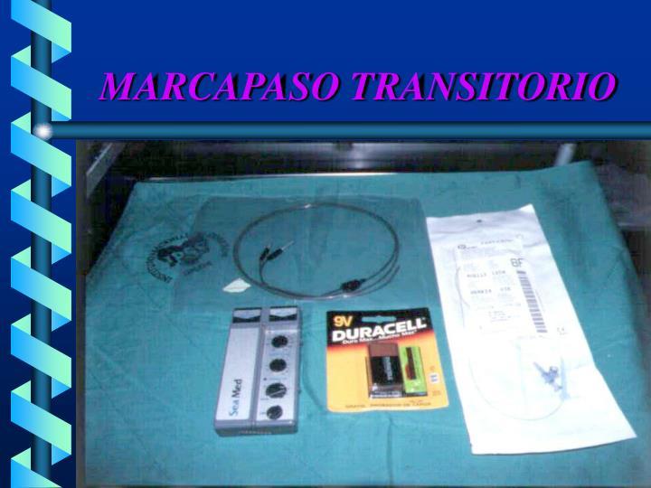 MARCAPASO TRANSITORIO